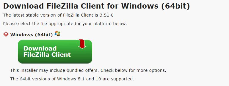 Download FileZilla FTP client