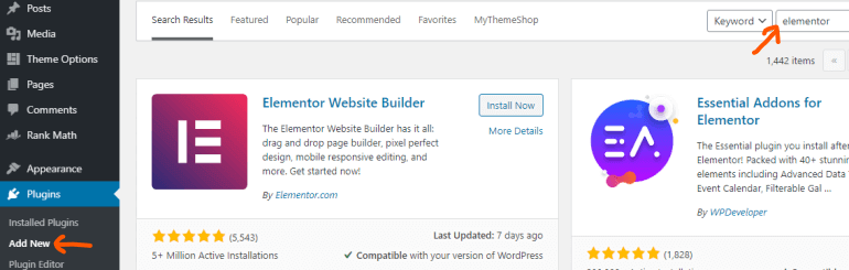Searching for new WordPress plugins