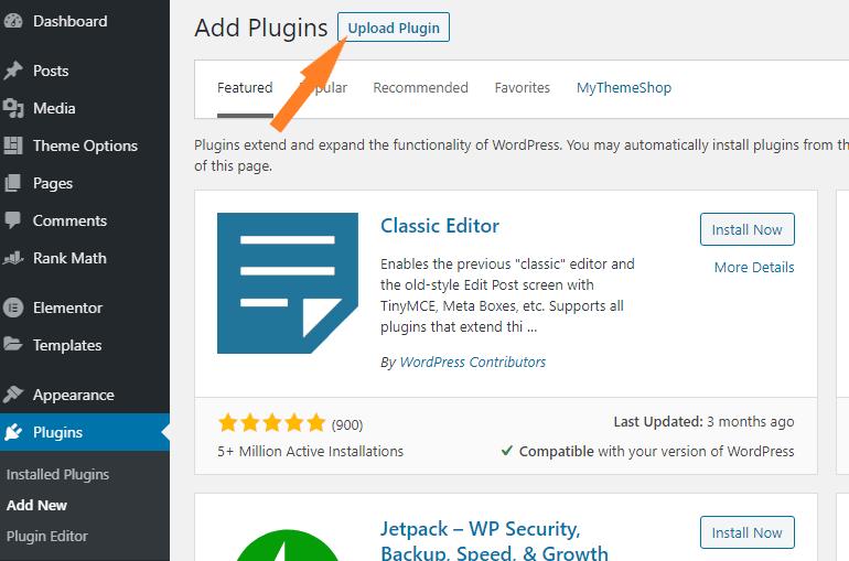 Uploading plugin via zip file