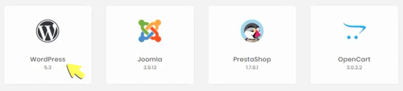 Choose WordPress Auto Installer to Install WordPress