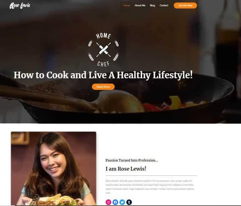 Astra theme for WordPress recipe blog