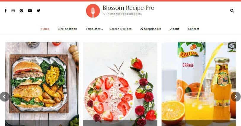 Blossom Recipe theme for WordPress recipe blog