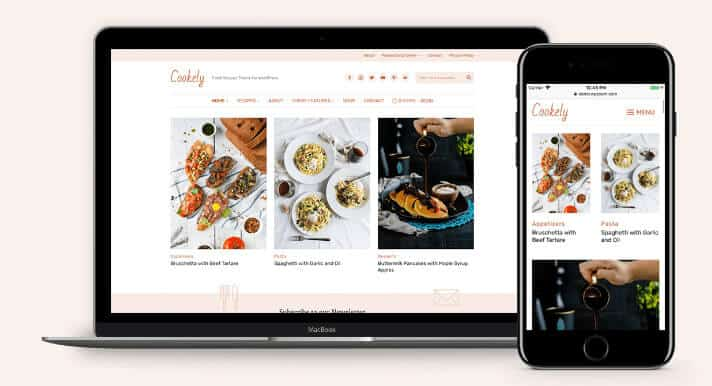Cookely theme for recipe blog