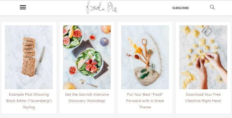 Foodie pro theme for WordPress recipe blog