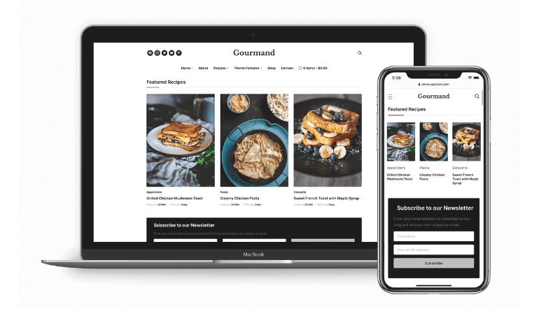 Gourmand theme for food blog