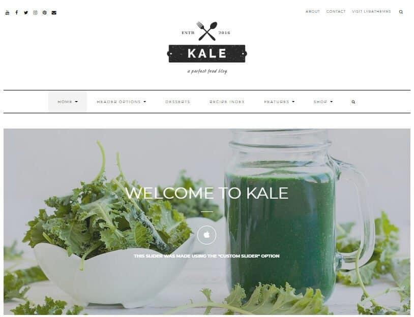 Kale theme for WordPress recipe blog