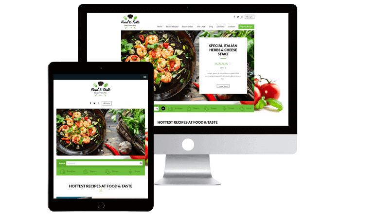 RecipePress theme for WordPress recipe blog