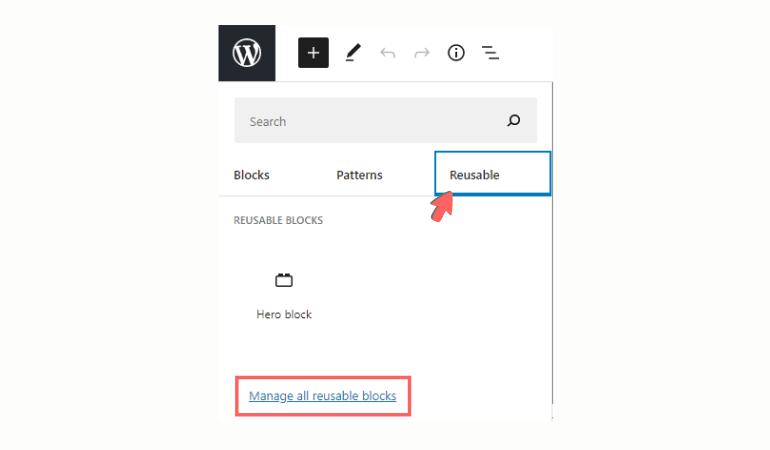 Reusable block improvements in WordPress 5.7